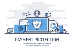 Payment protection vector illustration Royalty Free Stock Photography