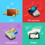 Payment Realistic Set Stock Photos