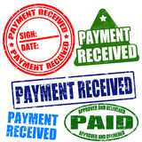 Payment received stamp set Royalty Free Stock Photo