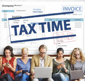 Payment Received Taxation Tax Time Concept Royalty Free Stock Images