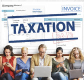 Payment Received Taxation Tax Time Concept Stock Image