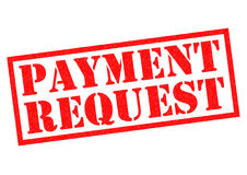 PAYMENT REQUEST. Red Rubber Stamp over a white background Royalty Free Stock Images