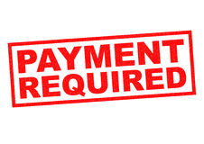 PAYMENT REQUIRED Stock Images