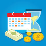 Payment schedule day calendar payday deadline money overdue. Vector Stock Image