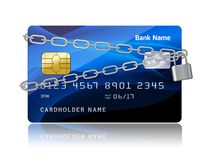 Payment security of credit card with chip Royalty Free Stock Photography