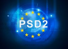 Payment services directive PSD2. Regulation directive in banking Stock Image