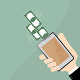 Payment in smart phone on Business hand.Business Concept Stock Images