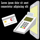 Payment by smart phone. For your convenience Similar to the pay office Stock Images