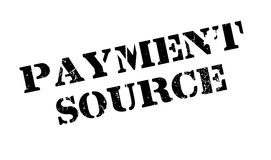 Payment Source rubber stamp Stock Photography