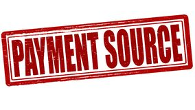 Payment source. Stamp with text payment source inside,  illustration Royalty Free Stock Photos
