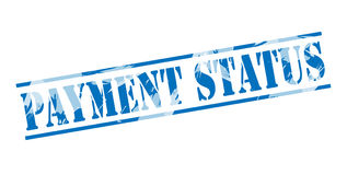 Payment status blue stamp Stock Photography