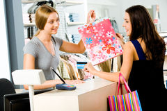 Payment in the store royalty free stock image