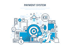 Payment system. Methods and forms of payment, security of finance. Stock Image