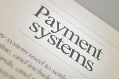 Payment systems. News Headlines: Payment Management System Royalty Free Stock Image