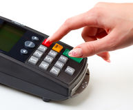 Payment terminal. Royalty Free Stock Photography