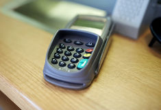 Payment terminal or bank card reader Royalty Free Stock Photography