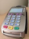 Payment terminal. Can be used for contactless payment stock photography
