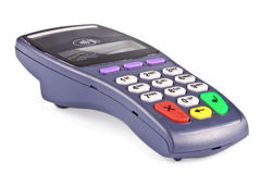 The payment terminal contactless. For payment of purchases Royalty Free Stock Photos