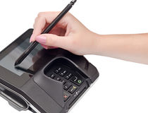Payment terminal Royalty Free Stock Photo