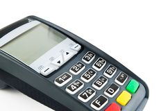Payment terminal with lighting keypad Royalty Free Stock Photos