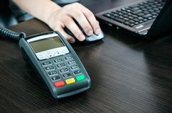 Payment terminal in the office Stock Photography