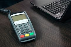Payment terminal in the office Stock Images
