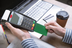 Payment terminal in the office. Stock Photography