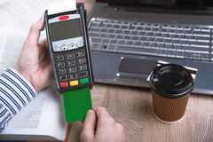 Payment terminal in the office. Royalty Free Stock Photography