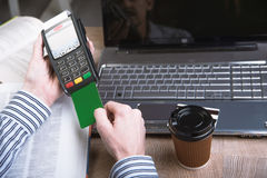 Payment terminal in the office. Royalty Free Stock Photo