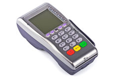 The payment terminal  for payment. Of purchases Royalty Free Stock Photos