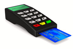 Payment terminal on white background Royalty Free Stock Images