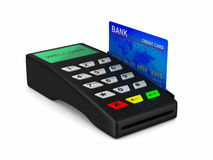 Payment terminal on white background Stock Images