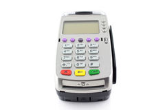 Payment terminal on white background Stock Photography