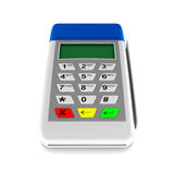 Payment terminal on white background. Isolated 3d Stock Images