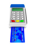 Payment terminal on white background. Isolated 3d Royalty Free Stock Image
