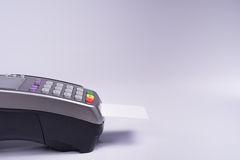 Payment terminal with white label credit card Stock Photography