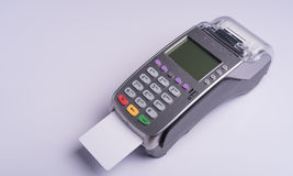 Payment terminal with white label credit card Stock Photo