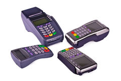 The payment terminals. For payment of purchases Royalty Free Stock Image