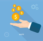 Payment of work Royalty Free Stock Photography