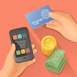 Payments, flat design Royalty Free Stock Photo