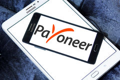 Payoneer electronic bank logo Royalty Free Stock Photography