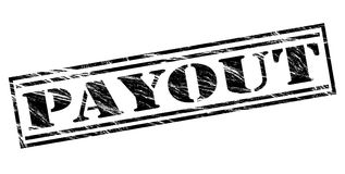 Payout black stamp. Isolated on white background Stock Photography