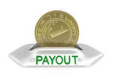 Payout concept icon. Isolated on white Royalty Free Stock Image