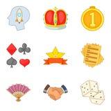 Payout icons set, cartoon style. Payout icons set. Cartoon set of 9 payout vector icons for web isolated on white background Royalty Free Stock Image