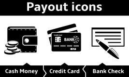 Payout icons Stock Image