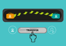 Payout or Payment Transfer Concept. Editable Clip Art Royalty Free Stock Photography