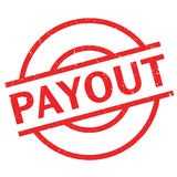 Payout rubber stamp. Grunge design with dust scratches. Effects can be easily removed for a clean, crisp look. Color is easily changed Stock Photos