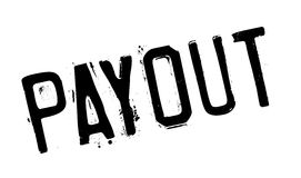 Payout rubber stamp. Grunge design with dust scratches. Effects can be easily removed for a clean, crisp look. Color is easily changed Stock Photo