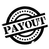 Payout rubber stamp. Grunge design with dust scratches. Effects can be easily removed for a clean, crisp look. Color is easily changed Royalty Free Stock Photo