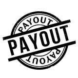 Payout rubber stamp. Grunge design with dust scratches. Effects can be easily removed for a clean, crisp look. Color is easily changed Stock Image